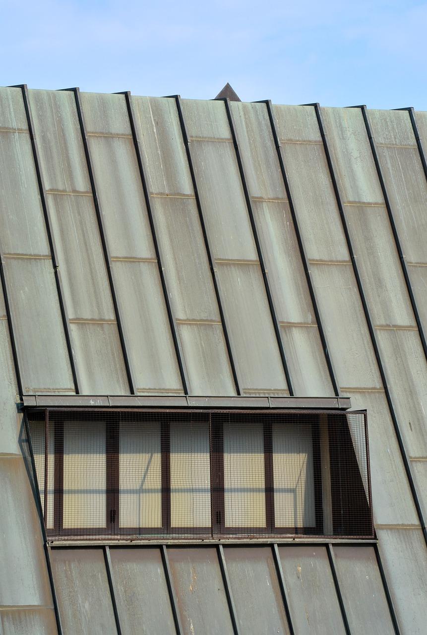 roof, sheet metal roof, window